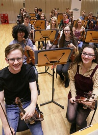 WSSSO Leader 2016, Andrew Taheny with the 1st Violin Section